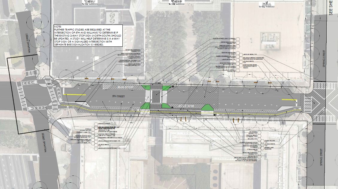 The latest design for 5th Street Complete Street.